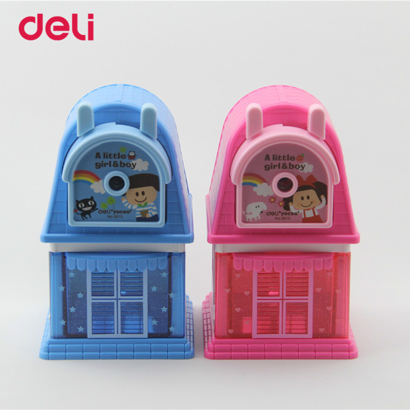 Deli New Stationery Cartoon Hand Mechanical Sharpener For Kids Home Pencils Sharpener High Quality Cute Pencils Sharpener 40D061 assorted cartoon pencils 5 pack