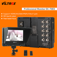"""Viltrox DC-70EX Pro 7 """"HD Клип на HDMI/SDI/AV Вход для Камеры Видео ЖК-Монитор + Батарея + Зарядное Устройство для Canon Nikon DSLR"""
