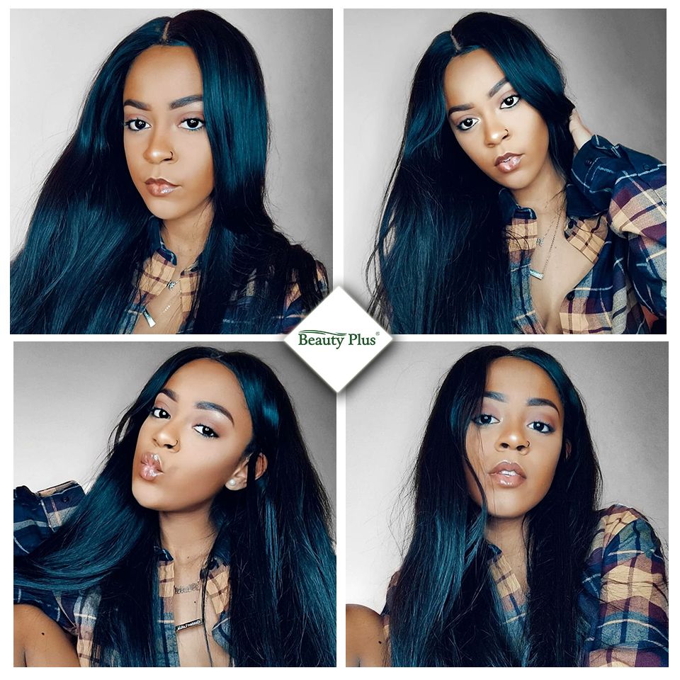 Brazilian Straight Human Hair Bundles med Closure Beauty Plus 4 - Skønhed forsyning - Foto 5