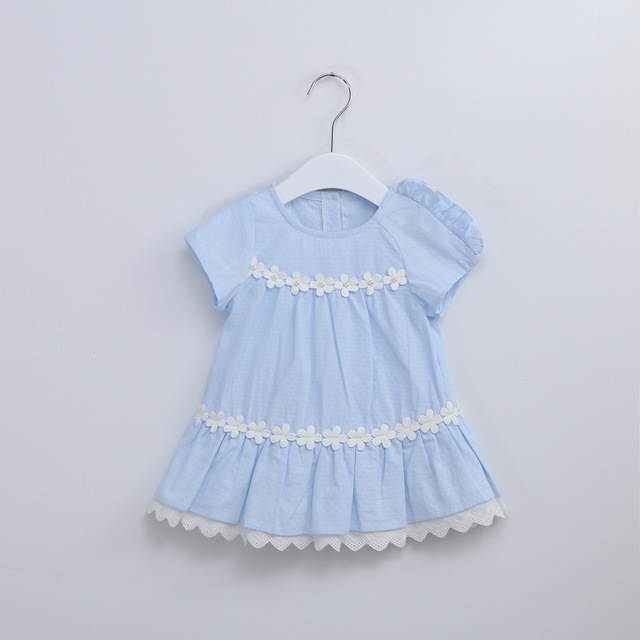 47ab3391c441 Idea Baby Girl Summer Cotton Dress Lace Flowers Beaded Cute Princess ...