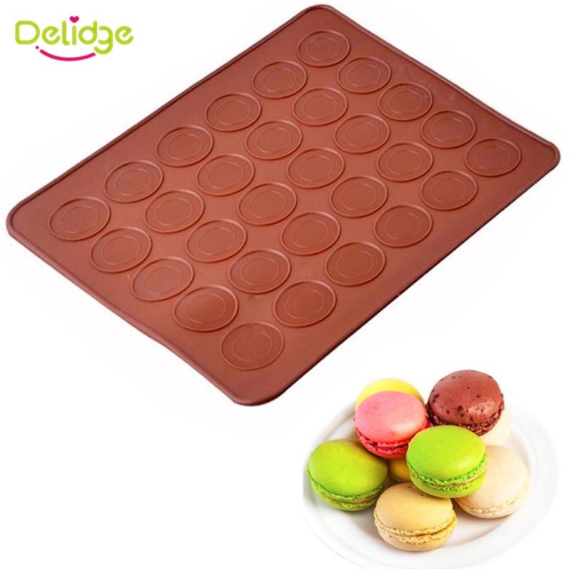 Delidge Trous Ronde Silicone Gâteau Moule D Petit Gâteau À La - Carrelage cuisine et tapis silicone macarons