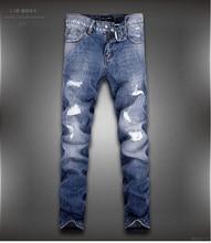 Бренд синий джинсовый мужчины в джинсы мужчины брюки одежда мужчины джинсы 28 — 36