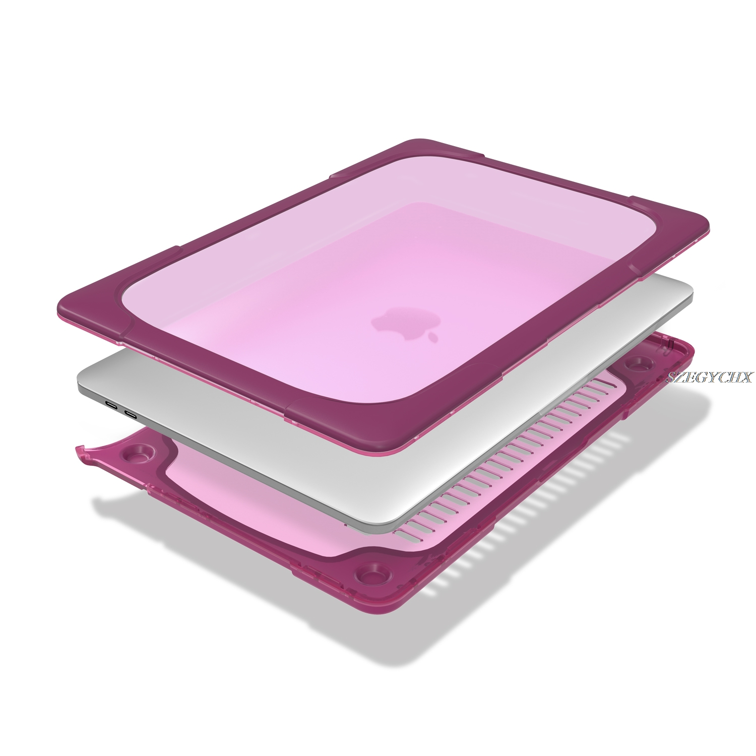 Dust Shock Proof Hard Ultra Thin Stand Laptop Case for Macbook 12 Air - Նոթբուքի պարագաներ - Լուսանկար 5