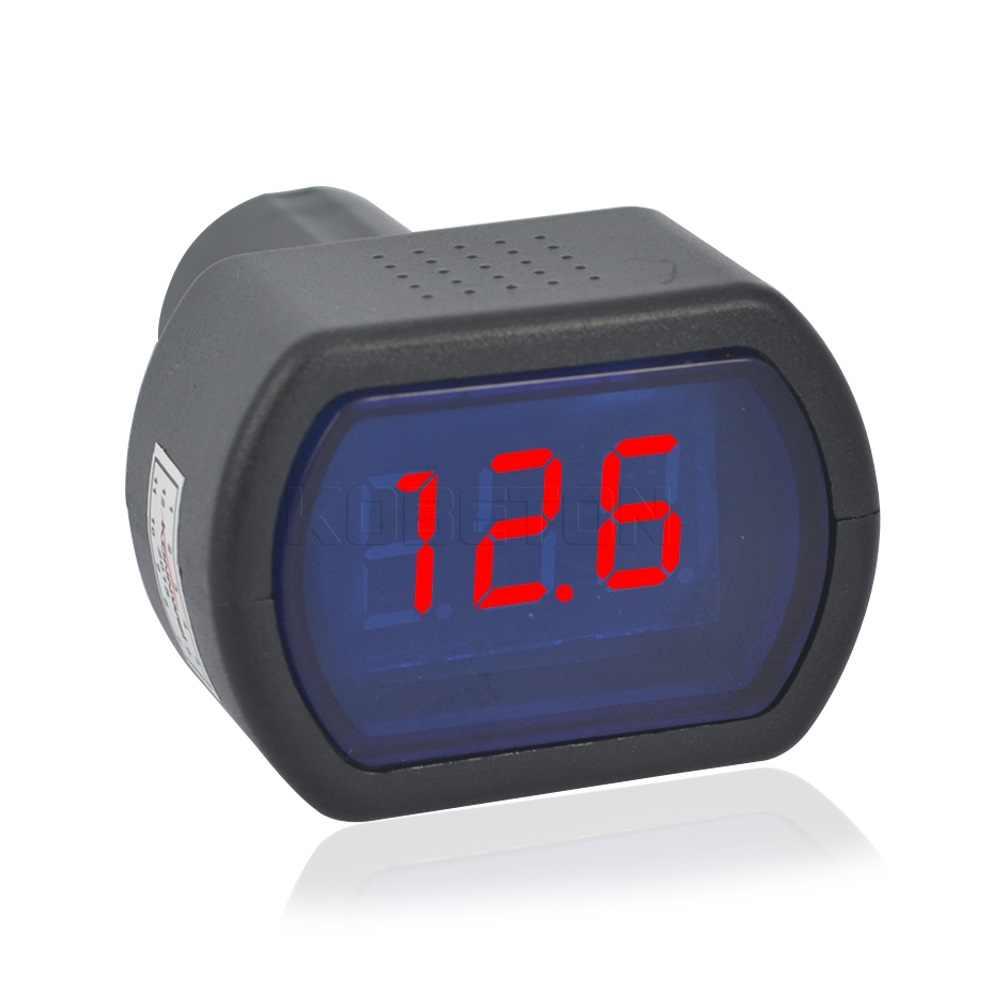2016 新車自動車 led 電圧計 dc 12 v-24 v 車のデジタルミニ液晶デジタル電圧計ゲージ電気モニターインジケータ