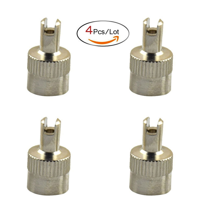 4Pcs/Lot Copper Slotted Head Valve Stem Caps Auto Tire Valve Dustproof Cover for Car Motorcycle Schrader Accessory