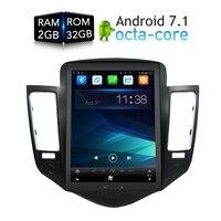 Android 7,1 8 CORE Стерео DVD плеер gps навигации мультимедиа для Chevrolet Cruze 2009 2012 головного устройства Радио Аудио Flash 32 г