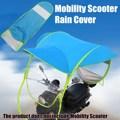 Bleu Polyester moto Scooter pare soleil couverture de pluie véhicule électrique parapluie mobilité imperméable Poncho preuve de la poussière|proof| |  -