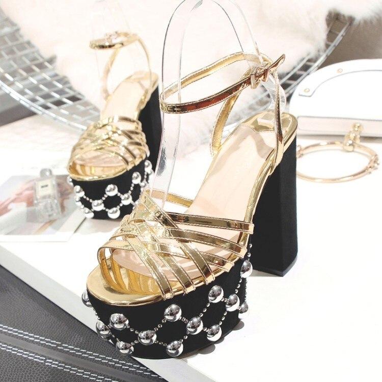 Show Cuadrado Estrecha Zapatos Tachonado Tamaño Desfile Más Plata rCBedxoW
