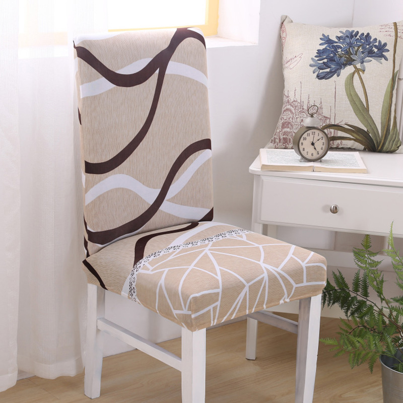 1 PC Removable Modern Elastic Spandex Chair Cover Wave ...