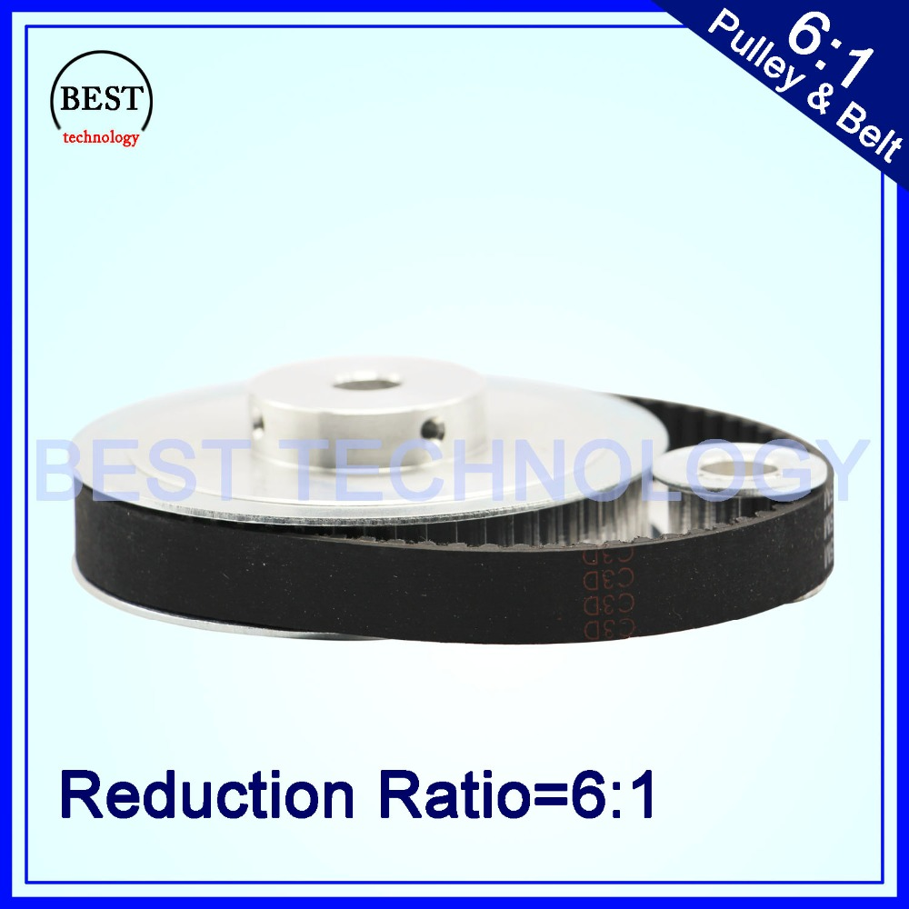 Timing Belt Pulley 5M Reduction 6:1 60teeth 10teeth  Shaft Center Distance 80mm  Engraving Machine Accessories - Belt Gear Kit