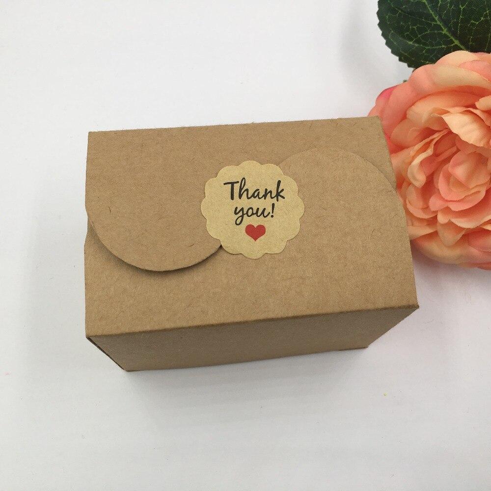 100 Pcs 9*6*6 Cm Kraft Schmuck Tragen Geschenk Boxen Mit Freies Aufkleber Für Candy's Kuchen's Schmuck Geschenk Schokolade's Party Papier Verpackung Box äSthetisches Aussehen