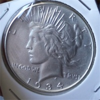 90% silver Date 1934 s Peace Dollar Copy Coin High Quality