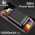 FLOVEME 10000mAh Mini Power Bank Portable Charging Mi Powerbank Poverbank External Battery Pack Charger For iPhone Xiaomi Huawei