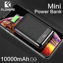 FLOVEME 10000mAh mi ni Power Bank Tragbare Lade mi Power Poverbank Externe Batterie Pack Ladegerät Für iPhone Xiao mi huawei(China)