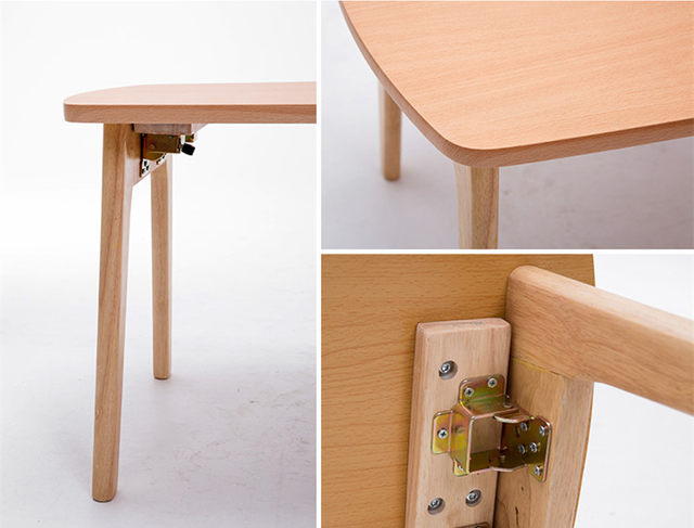 Japanese Floor Wooden Table Legs Folding 120x55cm Living Room Furniture Low  Wood Foldable TV/Laptop/Computer Table Natural/Brown