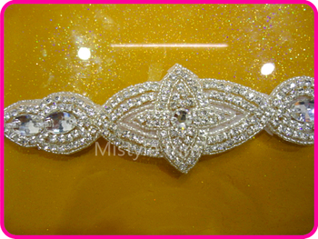 Free shipping rhinestone trim wholesale stretch belts and rhinestone applique for sashes accessories