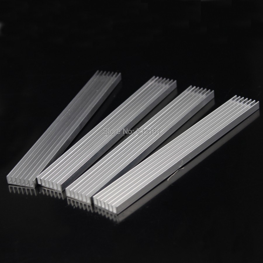 Купить с кэшбэком 5pcs/lot 150x20x5mm Aluminum Heatsink For LED IC Chip Heat Sink 150mm