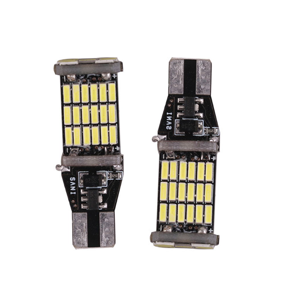 2x T15 W16W 45 SMD 4014 Error Free LED Car Reverse Back Turn signal tail Light Bulbs High brightness Car accessories Universal 2pcs brand new high quality superb error free 5050 smd 360 degrees led backup reverse light bulbs t15 for skoda rapid page 1