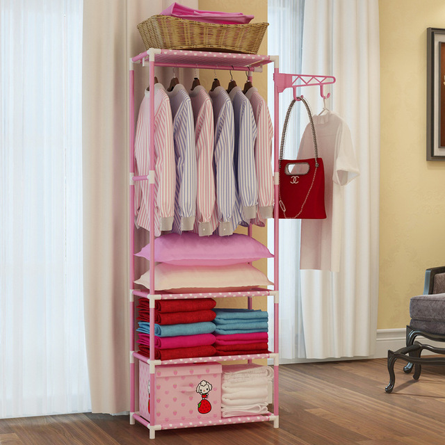 Multifunctional Coat Rack Floor Storage Shelf Closet Hangers Storage Racks  Reinforced Assemble Fashion Racks