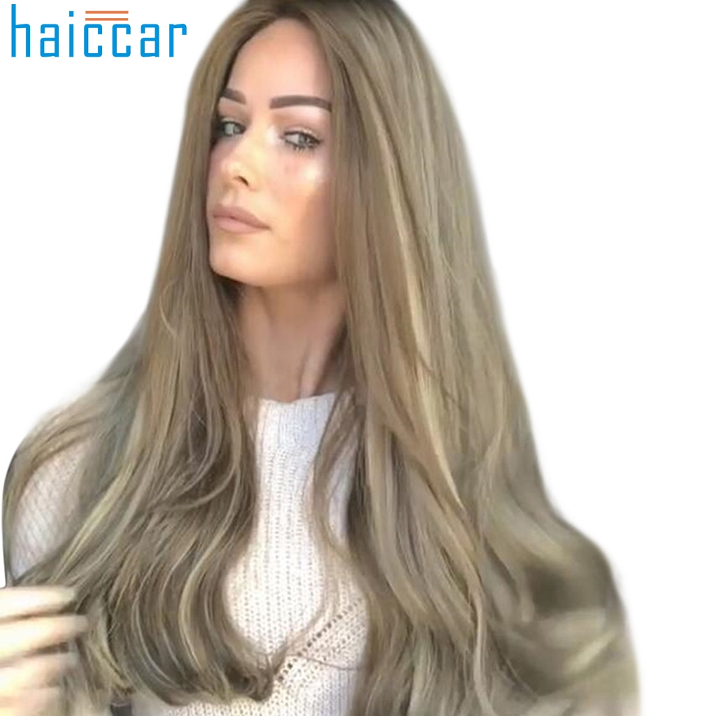 New Multicolor Fashion Straight Wigs Human Hair Long Wavy Dyeing Natural For Black Women Human Hair Wigs Rose net Dec24