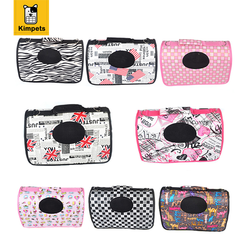 2017 High Quality Dog Carrier Bags for Small Dogs Pet Carrier Dog Carriers Dog Printed Outdoor Bag Carriers for Cats Size S/M/L