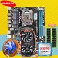 Скидка материнская плата HUANAN ZHI X58 материнская плата с ЦПУ Intel Ксеон X5570 2,93 ГГц Оперативная память 2*8G DDR3 регистровая и ecc-память GTX750Ti 2G