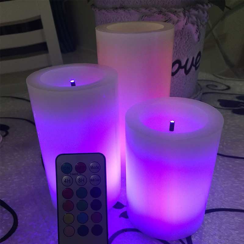 Hot Sale Color Changing Remote Control Candle Led Candles Scented