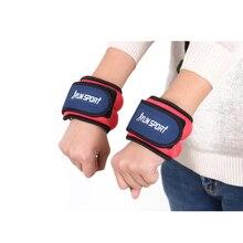 цена на A pair of Family Fitness Leggings Wrist Load Running Sandbags Adjustable Invisible Iron Sandbags