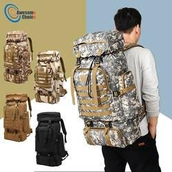 80L водостойкий альпинистский походный военный тактический рюкзак сумка Кемпинг Альпинизм Открытый Спорт Молл 3 P сумка