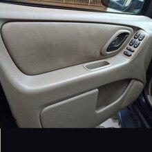 Для Ford Escape Kuga микроволокно кожа межкомнатные двери панель подлокотник крышка авто модифицированный Acceossries индивидуальные 4 шт./компл. AB209
