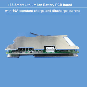 Image 1 - 48 V หรือ 54.6 V 13 S แบตเตอรี่ li ion BMS พร้อม 60A คงที่ charge and discharge current balance ฟังก์ชั่น PCB UART