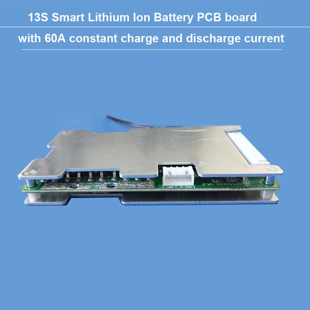 48 V หรือ 54.6 V 13 S แบตเตอรี่ li ion BMS พร้อม 60A คงที่ charge and discharge current balance ฟังก์ชั่น PCB UART