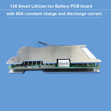 48V or 54.6V 13S bluetooth li ion Battery BMS with 60A constant charge and discharge current balance function PCB  UART