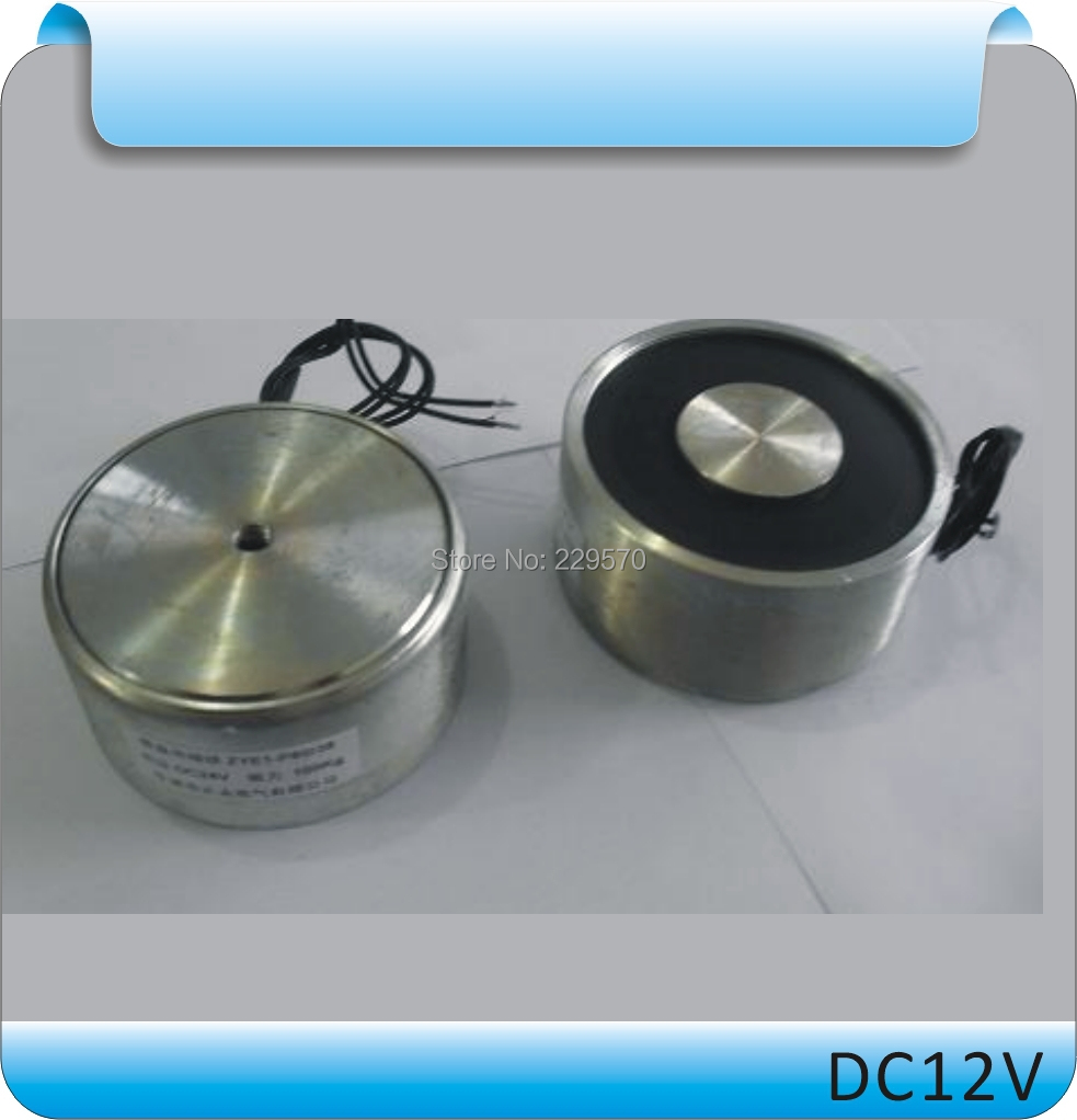 Free shipping ZYE1-P34/18 Holding Force 18KG(180N) DC Solenoid Electromagnet,Round Electro Holding Magnet Electro 12V 24V 20 x 15mm dc electro holding magnet blue silver black 22cm cable