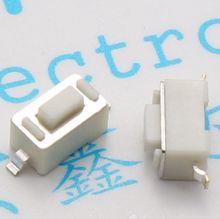 Interrupteur Tactile SMD, 100 pièces, 3x6x4.3mm, connecteurs, bouton poussoir, 3x6x4.3mm