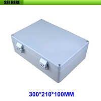 Waterproof IP66 Aluminum Enclosure PCB Instrument Box DIY Electronic Project 300*210*100mm