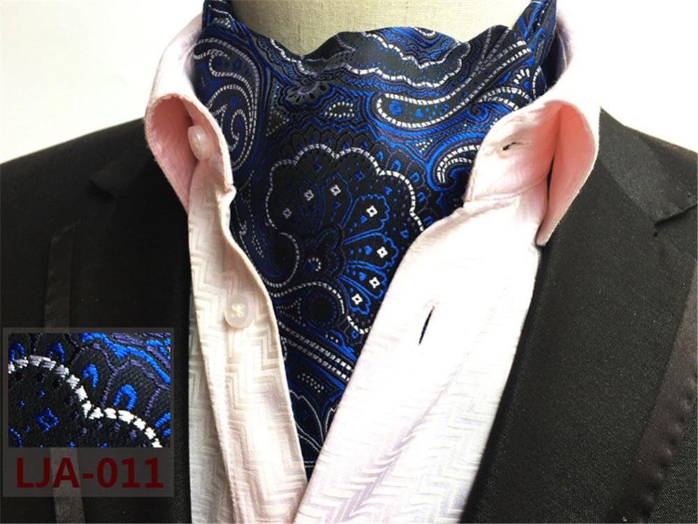 Cityraider Paisley Print Designer Men S Silk Cravat Wedding Cravats New Gold Mens Ascot Ties For Tie Necktie Cr013 In Handkerchiefs From
