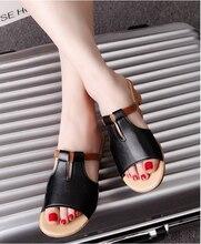 купить!  женские сандалии Роскошная обувь Женская дизайнерская обувь Кожаная обувь Женские повседневные кож