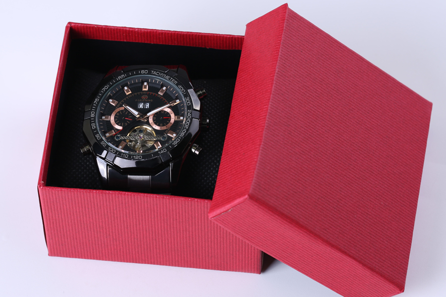 2018 Forsining Heren Horloges Topmerk Luxe Heren Tourbillon Horloge - Herenhorloges - Foto 5