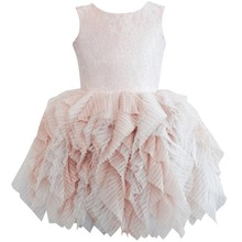 2019 Cute Lace Tutu Dress for Kids Baby Girls Tulle Ruffles Sleeveless Princess Dresses Pageant Wedding Formal Party Girls Dress jeremiah flowers girls dress white sleeveless bow cute girls dress party dress for kids girls tutu wedding dress for girls
