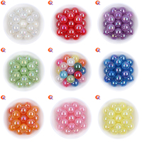Choose Colors 20MM 100Pcs Lot Gumball Acrylic Clear AB Cracked Beads Chunky Beads DIY Material Suppliers