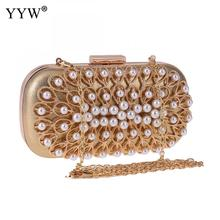 Womne Gold Clutch Purse Cocktail Wedding Party Evening Clutches Bag Luxury Bridal Prom Handbag Moonlight Pearl Bead Evening Bag pink luxury evening clutch bag diamond crystal clutches party purse for prom ladies round wedding bridal bling banquet bag