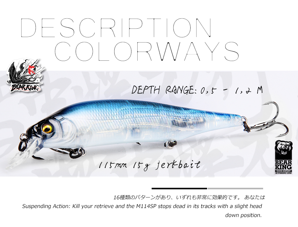 Leurre type Flash Minnow  115 mm suspending