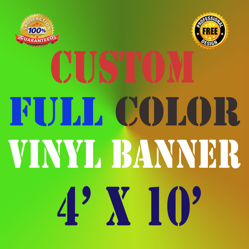 US $65 68 |Custom Vinyl Outdoor Indoor Personalized 4'x10' Banner for  Business and Parties-in Flags, Banners & Accessories from Home & Garden on