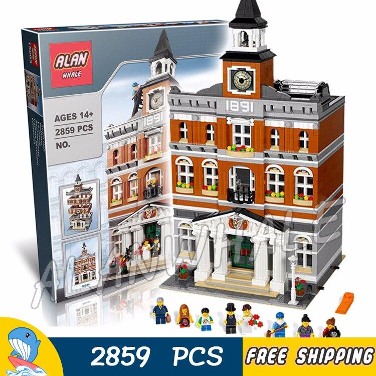 2861 pces criador perito câmara municipal bell tower construir coleção 30014 figura modular bloco de construção brinquedo compatível com legoing