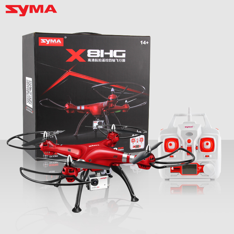 Syma X8HW Hover RC Quadcopter FPV Drone with 4K 1080P Camera HD 2.4G 6Axis Dron RTF RC Helicopter VS MJX X101 Syma X8HG new arrival syma x8hg wifi fpv 3d rolling dron rc 2 4g remote control 6 axis rc drone hd camera rc quadcopter with led light