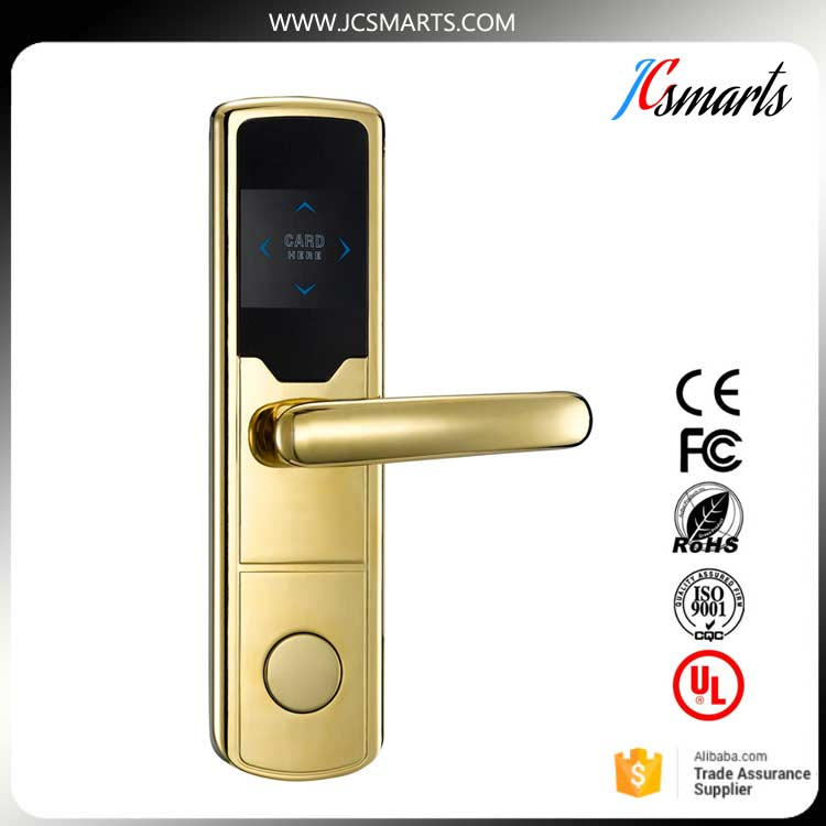 RF Card Hotel Lock Digital Promotion Intelligent Electronic RFID Card Door Lock with Key for Hotel Home Apartment Office lachco card hotel lock digital smart electronic rfid card for office apartment hotel room home latch with deadbolt l16058bs
