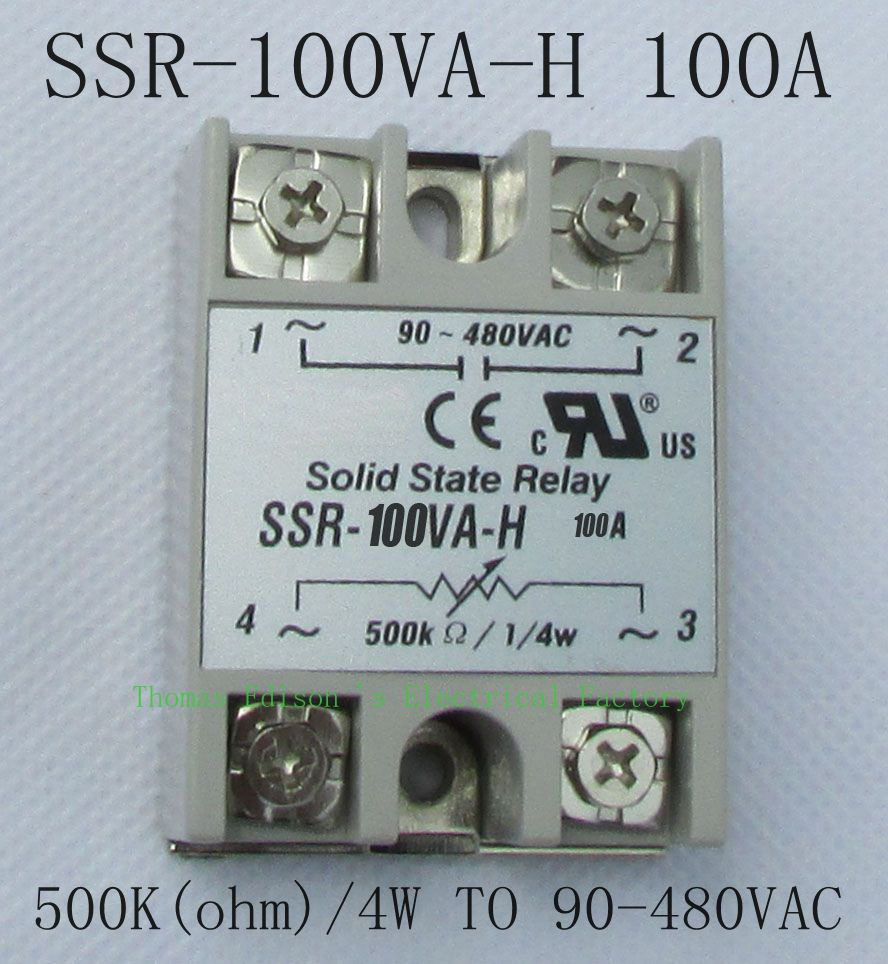 DMWD solid state relay SSR-100VA-H 100A SSR 100VA H Resistance type voltage regulator solid state Resistance Regulator normally open single phase solid state relay ssr mgr 1 d48120 120a control dc ac 24 480v