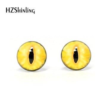3 pares de ojos de vidrio hechos a mano de 12mm, cabujones de vidrio con ojos de monstruo parpadeantes, accesorios para ojos de animales para mascotas DIY