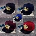 2016 Moda Verão Da Marca Crown Europa Chapéu Boné de Beisebol Para Mulheres Dos Homens Casual Hip Hop Osso Snapback Tampões Chapéus de Sol